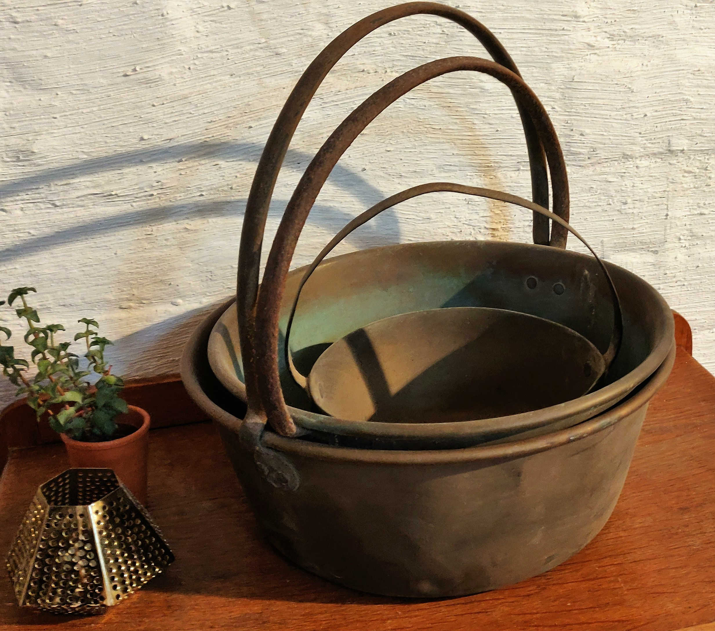 Vintage jam cauldrons  Hire from £6