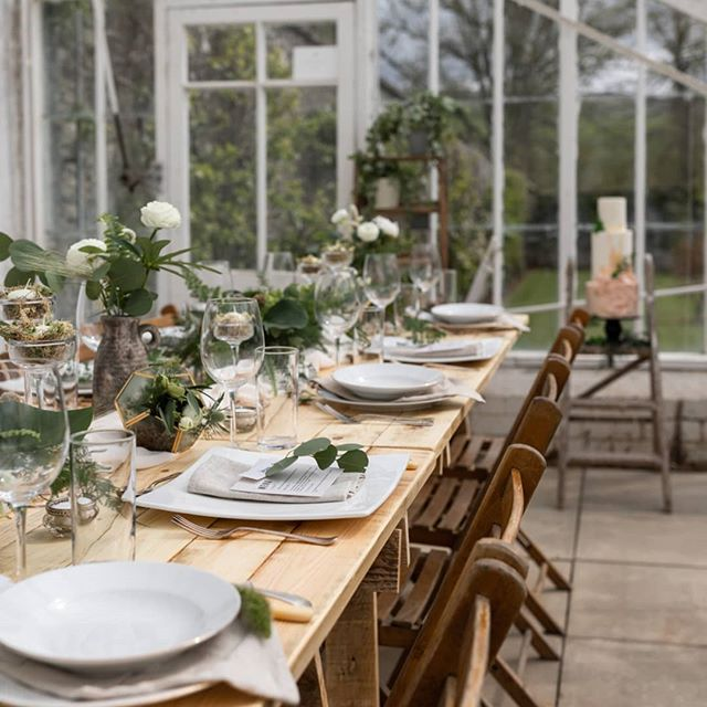 Glasshouse vibes    All the greenery & cake goodness from last week's styled shoot...🌿🌿💕🙌 photography// @enamayphotos flowers// @emstems cake// @rubyandpearlcakeart venue// @cringletiehouse furniture+props// @hoplerwoodco . . . #eventrentals #weddingdecor #inspiredbynature #bohowedding #tablescape #intimatewedding #aquietstyle #rusticwedding #weddinghire #weddingplanning #weddinginspo #bridebook #scottishwedding #hoplerwoodco