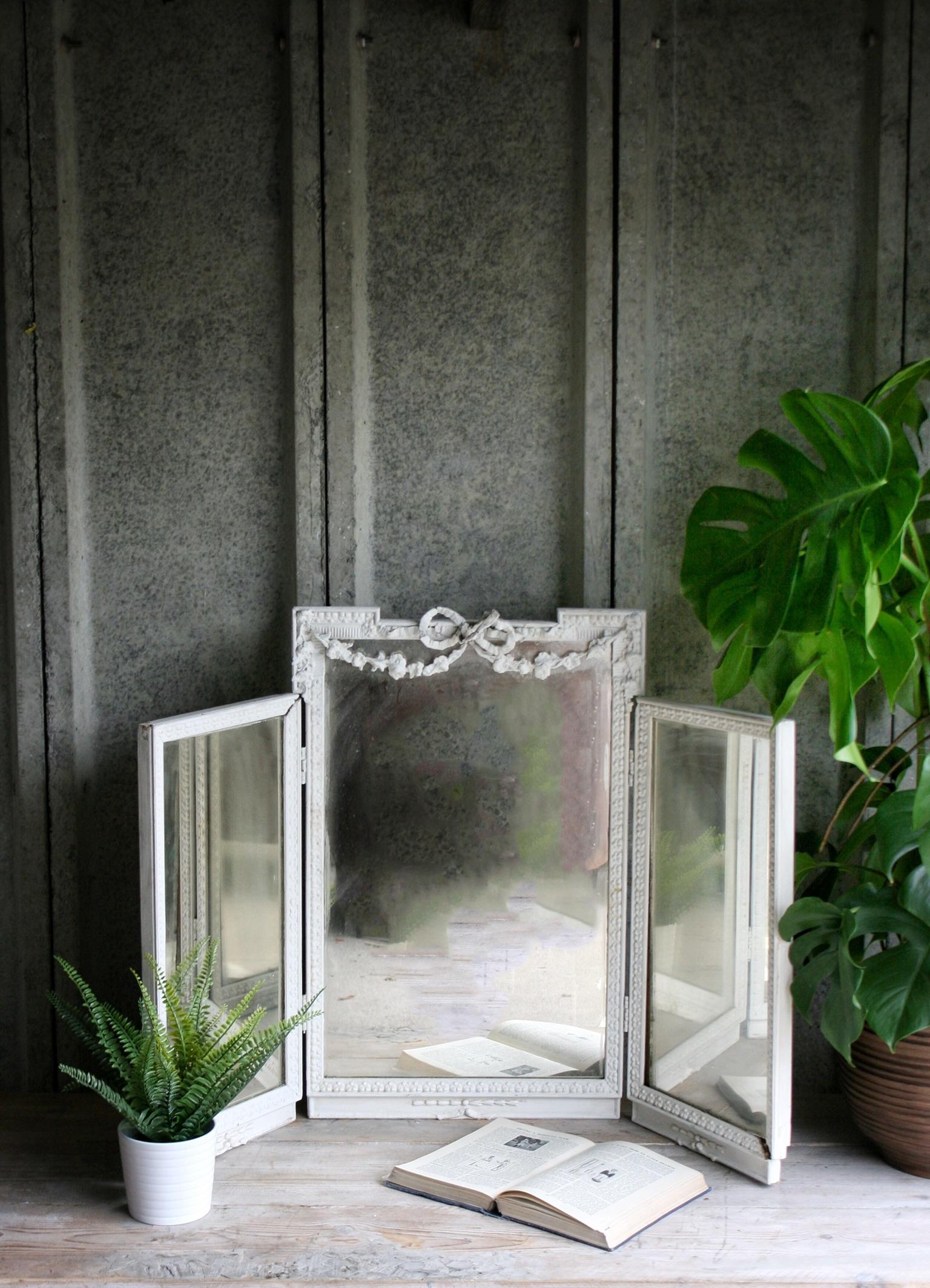 Antique Folding Dressing Mirror