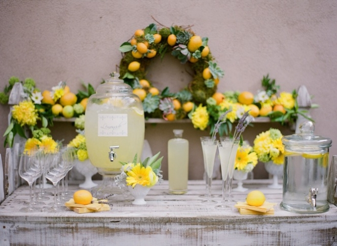 Lemon Themed Buffet