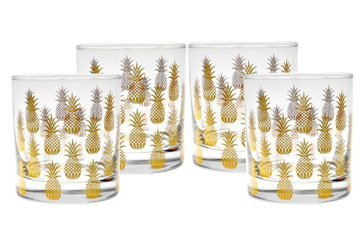 Pineapple Old-Fashioned Glasses by Culver