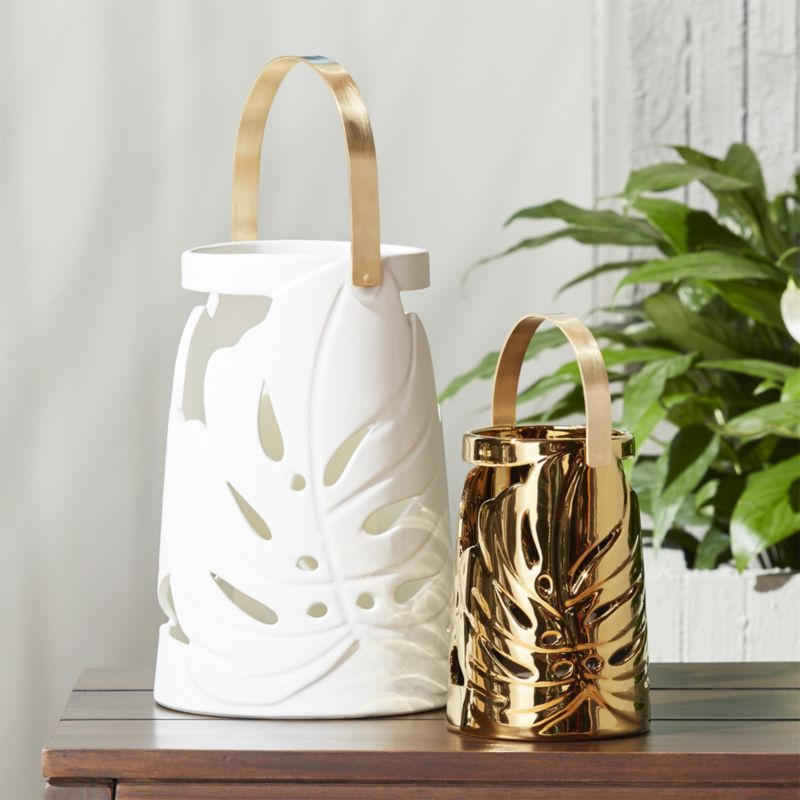 Monstera Leaf Lanterns
