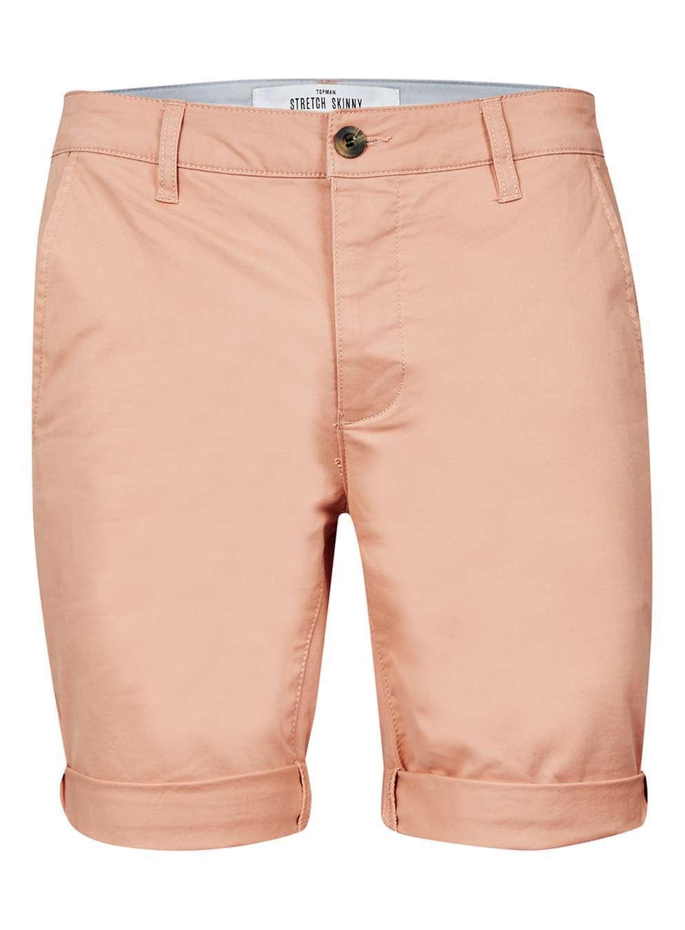 Topman   Washed Pink Chino Shorts