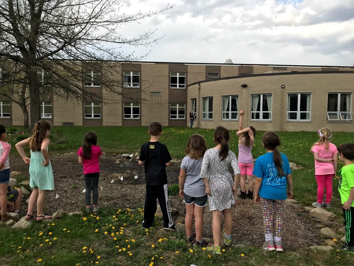 Current Rain Garden project at James A. Garfield Elementary School