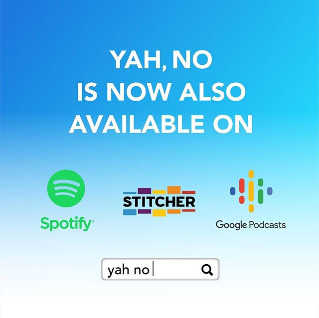 Just so you know, we're EVERYWHERE!  To all of our Android fans, #YahNopodcast is now available on @Spotify @stitcherpodcasts and #googlepodcast  Subscribe and add us to your favorite lists!