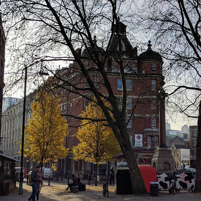 Old Street. They call it Silicon Roundabout. We call it home. Golden in the fall! #designstudio #londondesign