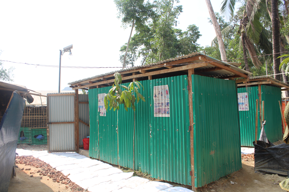 New latrine blocks in the Nayapara camp, located closer to camp households.