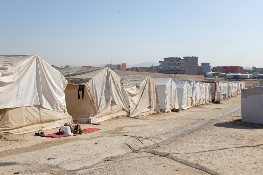 The Sharia displacement camp in Iraq where we engaged with Yazidi children and caregivers