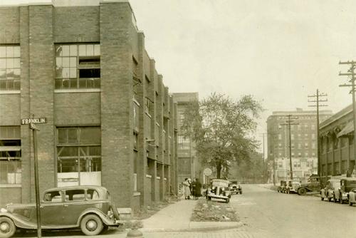 Corner of Franklin Street & McDougal 1936