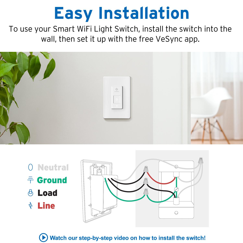 Etekcity Smart WiFi Light Switch (ESWL01) — VeSync
