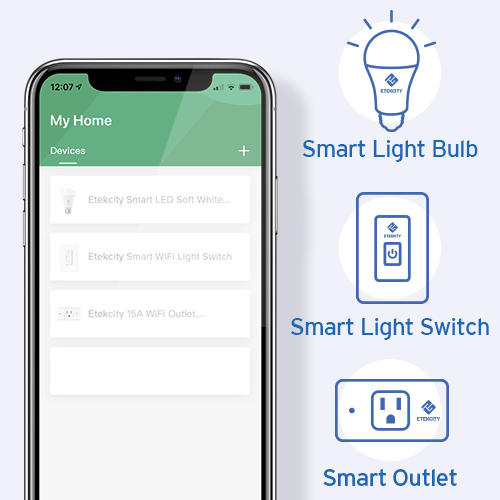 1 App for Every Device   A one-stop platform for the newest smart home innovations, the VeSync app pairs with Etekcity's smart outlets, light bulbs, and much more to bring you a truly integrated experience.