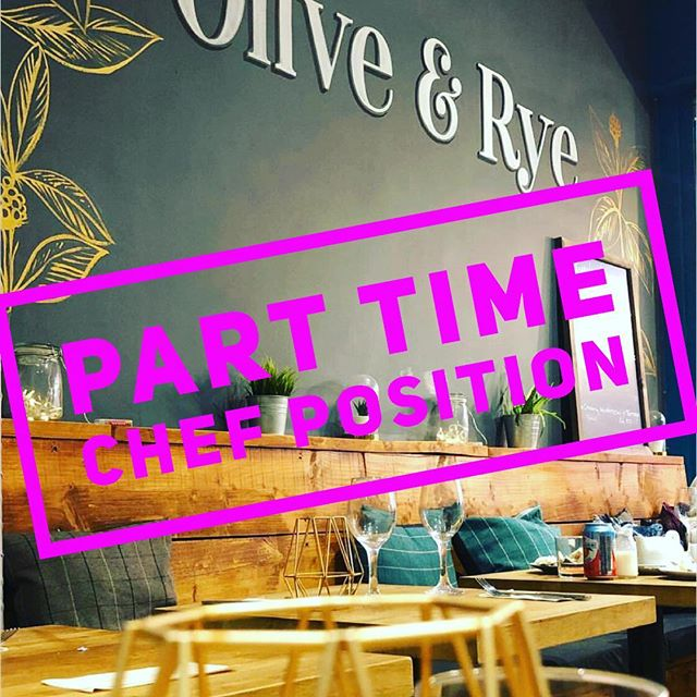 🌟🌟Job Alert !!! 🌟🌟We are looking for a part time Chef to join our team at Olive & Rye we can offer competitive salaries, no evenings and a good work life balance. The current position would be 25 hours per week worked over 3 days. Any one wishing to apply does not need to be the finished article, all training will be given to the right candidate. Any one wishing to apply can send over a cv to info@oliverye.co.uk or send us a DM. #job #work #chef #recruit
