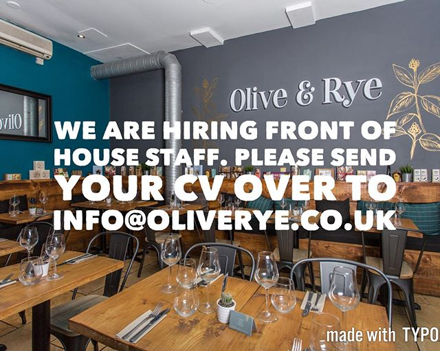 It's that time again folks!!!! Any one wishing to join our amazing team should send their CV over to info@oliverye.co.uk. #job #leeds #deli #cafe