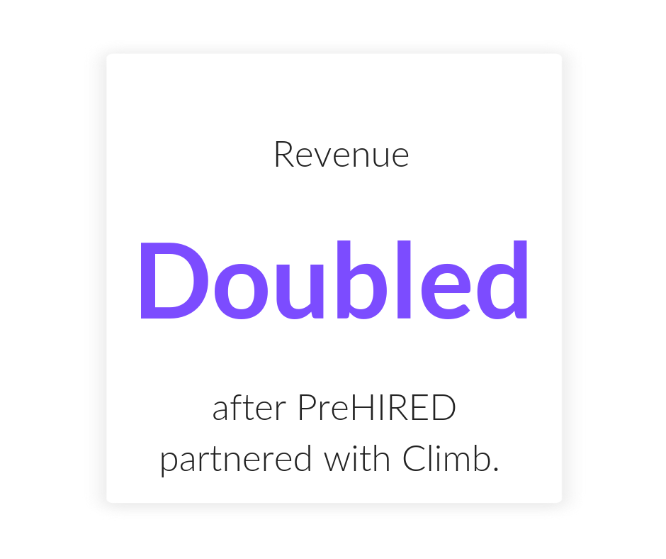 "- With a simple monthly payment offering in place, preHIRED was able to add value to their program and increase tuition revenue while still remaining affordable to students. ""We've 2X'd and I really think we will be able to 3X revenue..."""