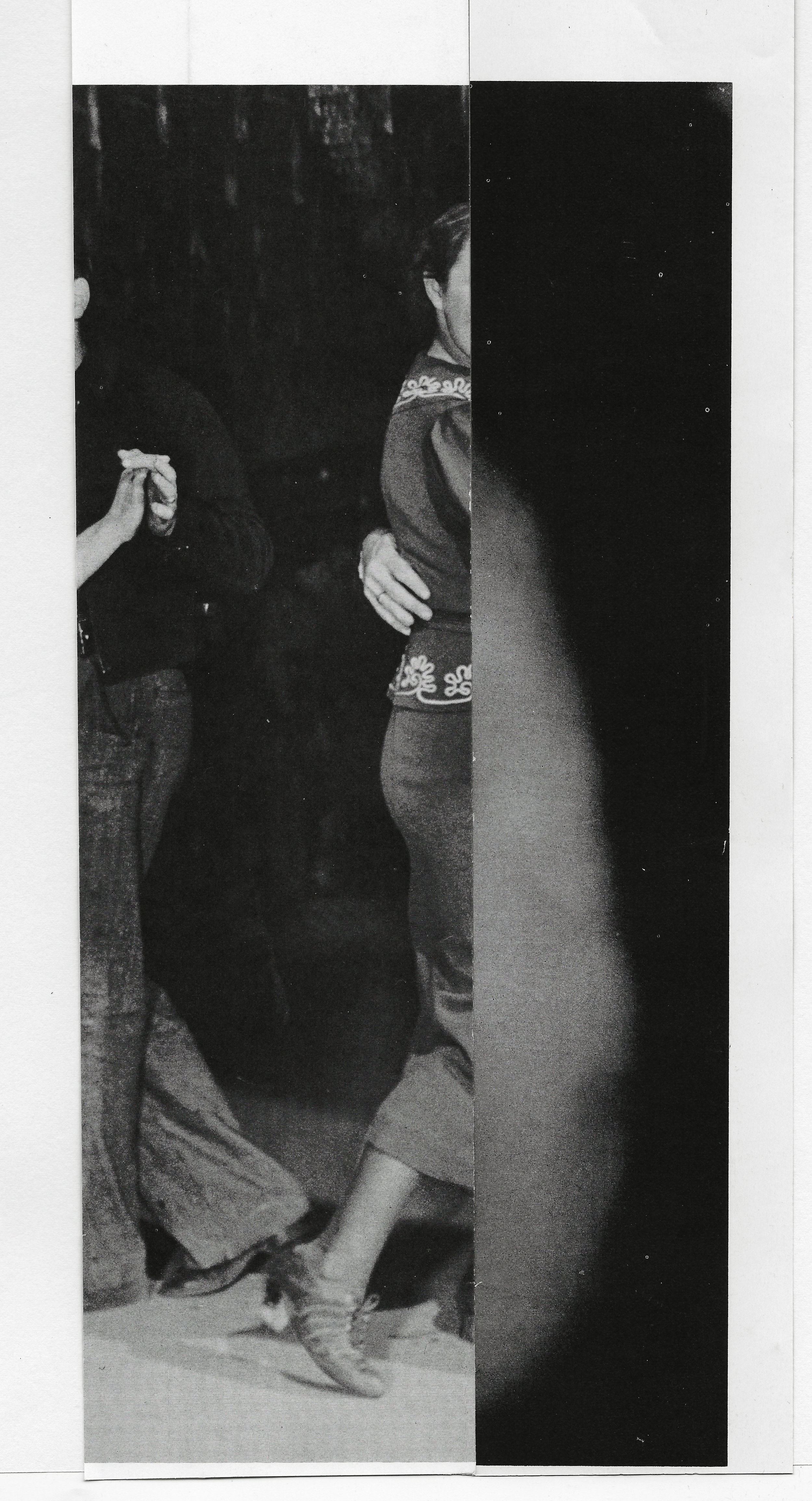 """De lende"" ,found paper, 6.75""x 11"", 2013"