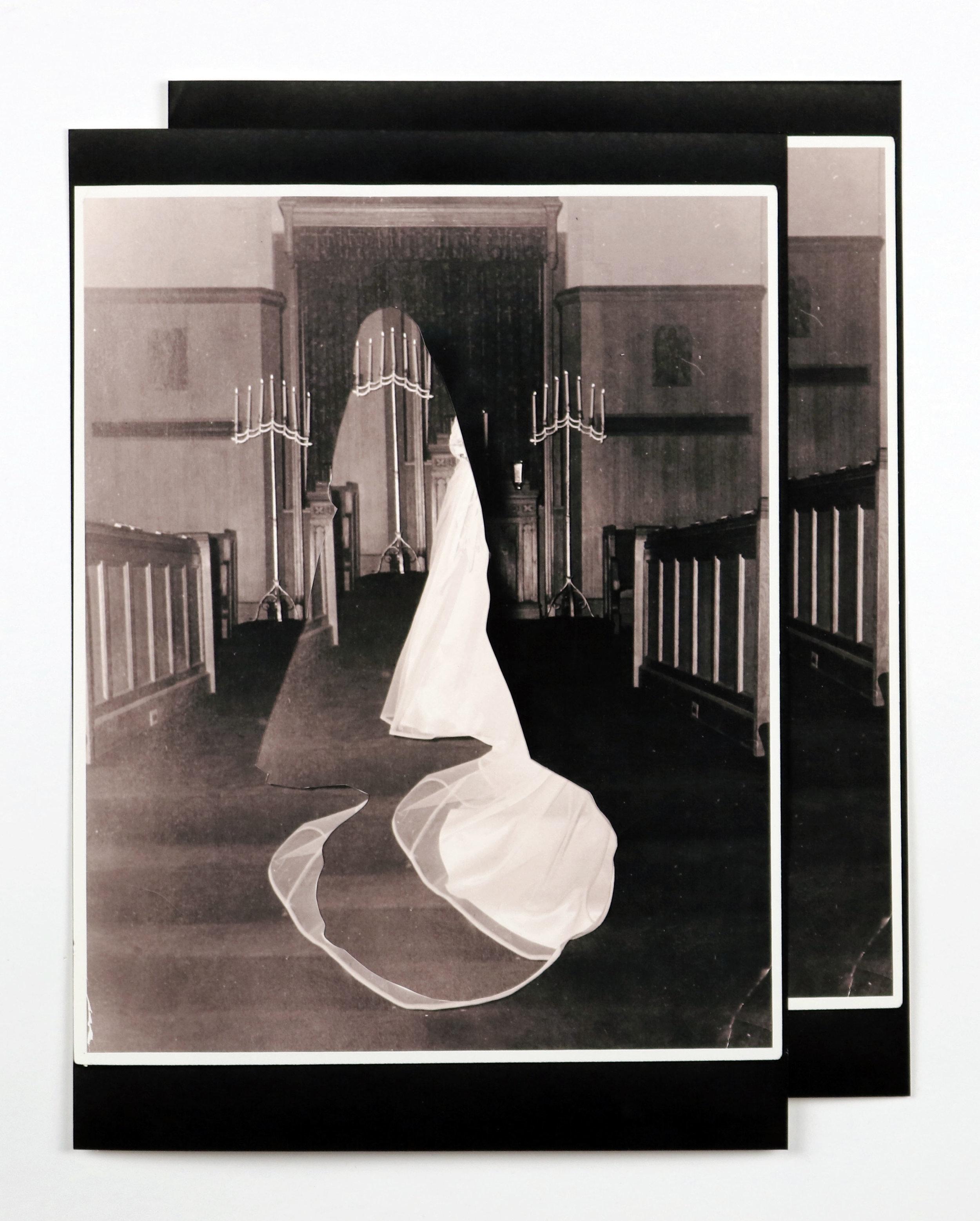 """""""8cm a droite, 3cm vers le haut"""", 10""""x13"""", collage, prints of found images, 2016"""