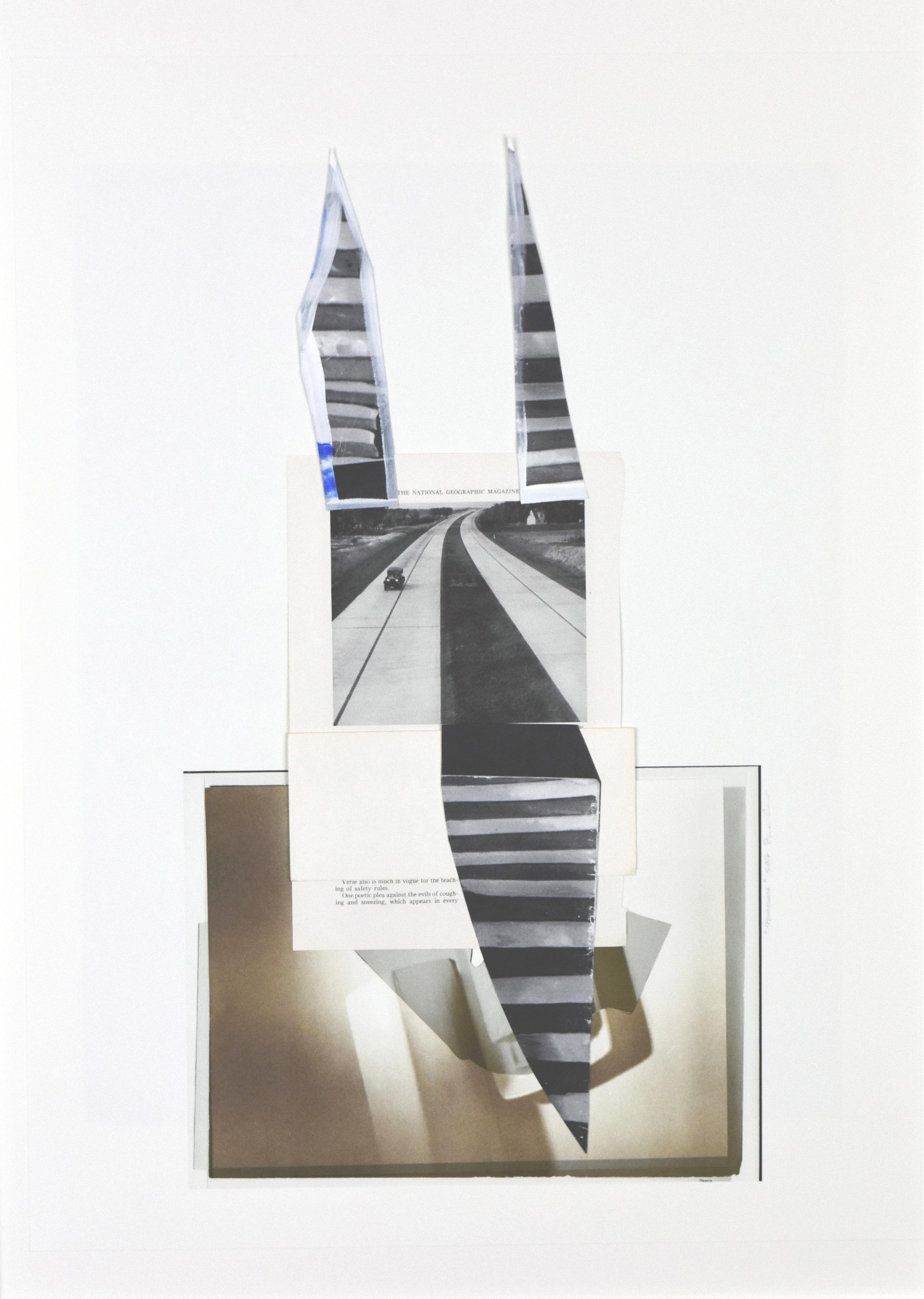 """Vintage focalpoint"", epson print, photocopy, paint, found image, 16""x 24"", 2016"