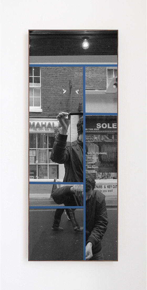 White Horse delay No.1,  2015  Archival InkJet print cutouts and masking tape  42 x 106 cm  Ed. 1 of 3 + PA