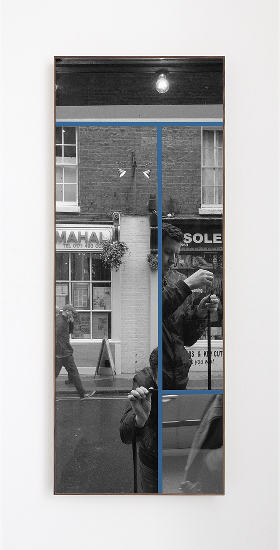 White Horse delay No.2,  2015  Archival InkJet print cutouts and masking tape  42 x 106 cm  Ed. 1 of 3 + PA