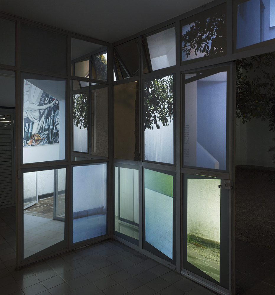 WIDE (characters leave the scene) , 2016.  Installation view