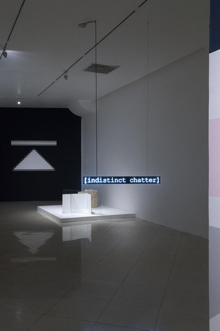 Javier M. Rodríguez, Fabiola Torres-Alzaga and Leo Marz.   Exhibition view.