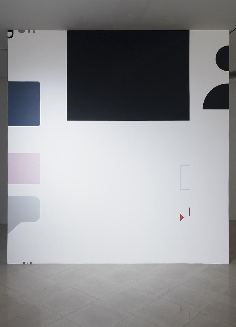 Leo Marz -  Las batallas del display,  2018.  Acrylic on wall.