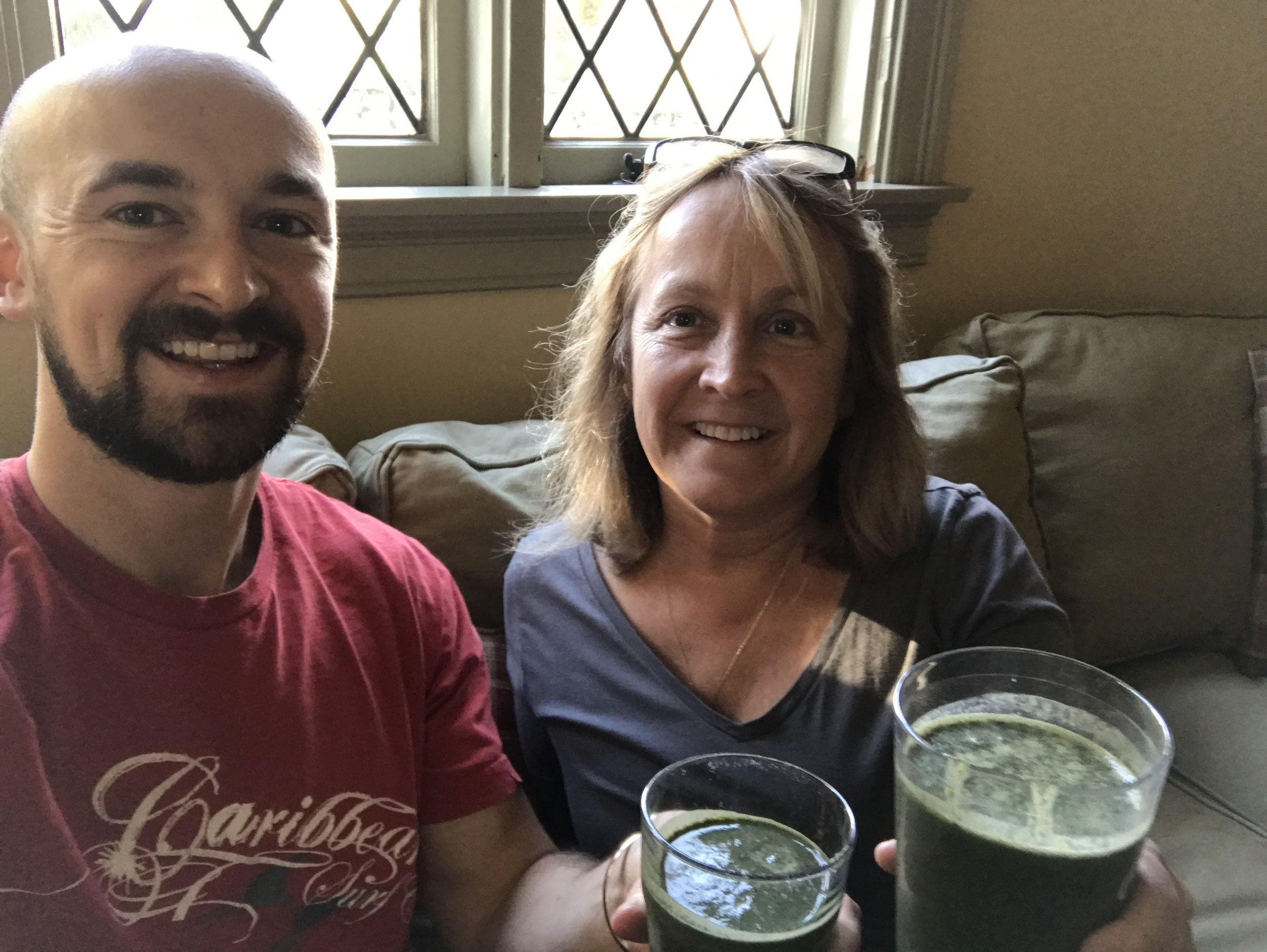 Mom's first green smoothie in the Fall of 2016!