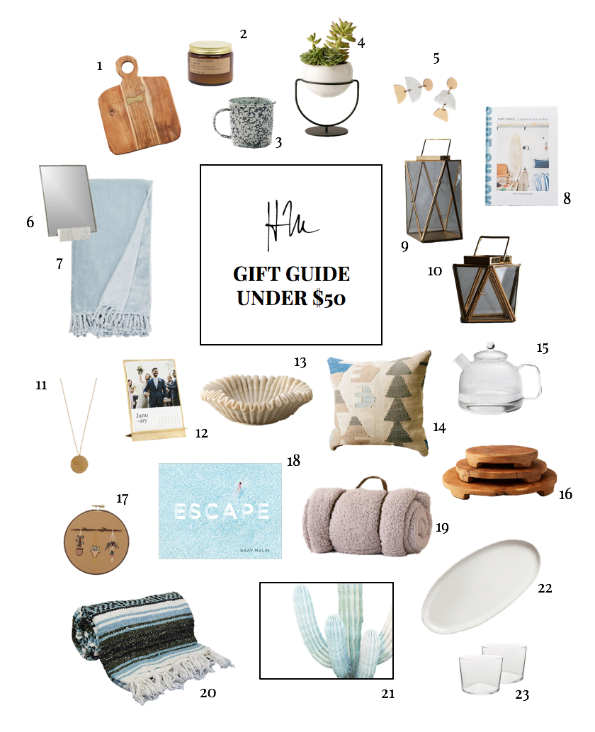 Haley Manning's Gift Guide-Under $50