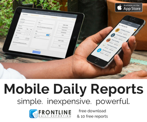 construction daily reporting - frontline daily