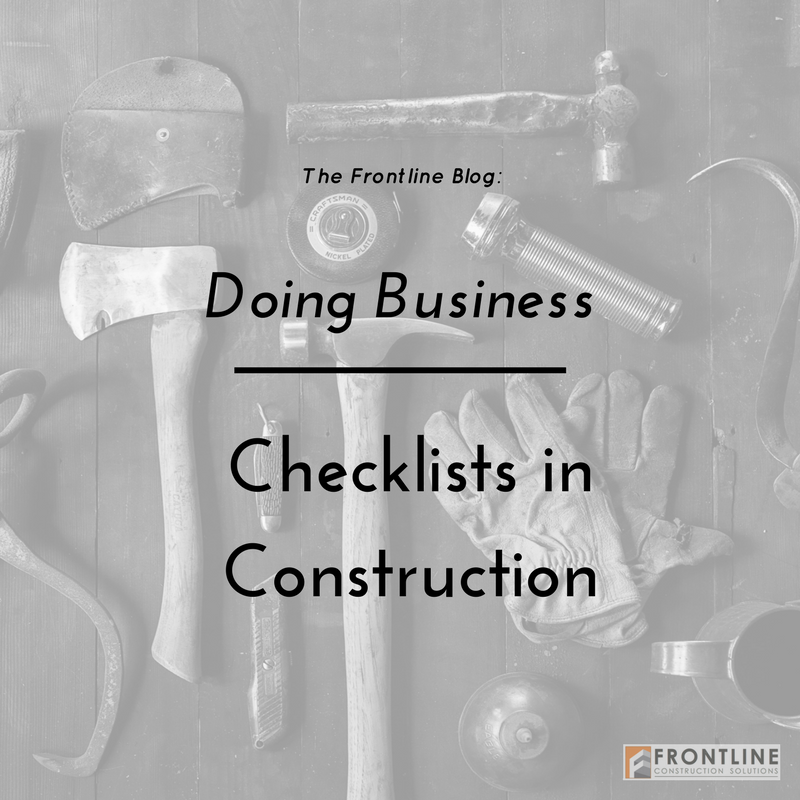 construction frontline daily checklists