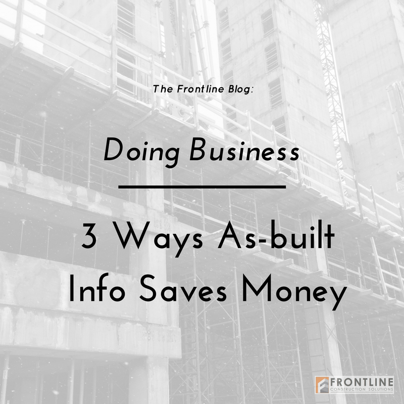 construction small business frontline as-built versus budget