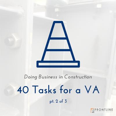 frontline construction small medium va virtual assistant