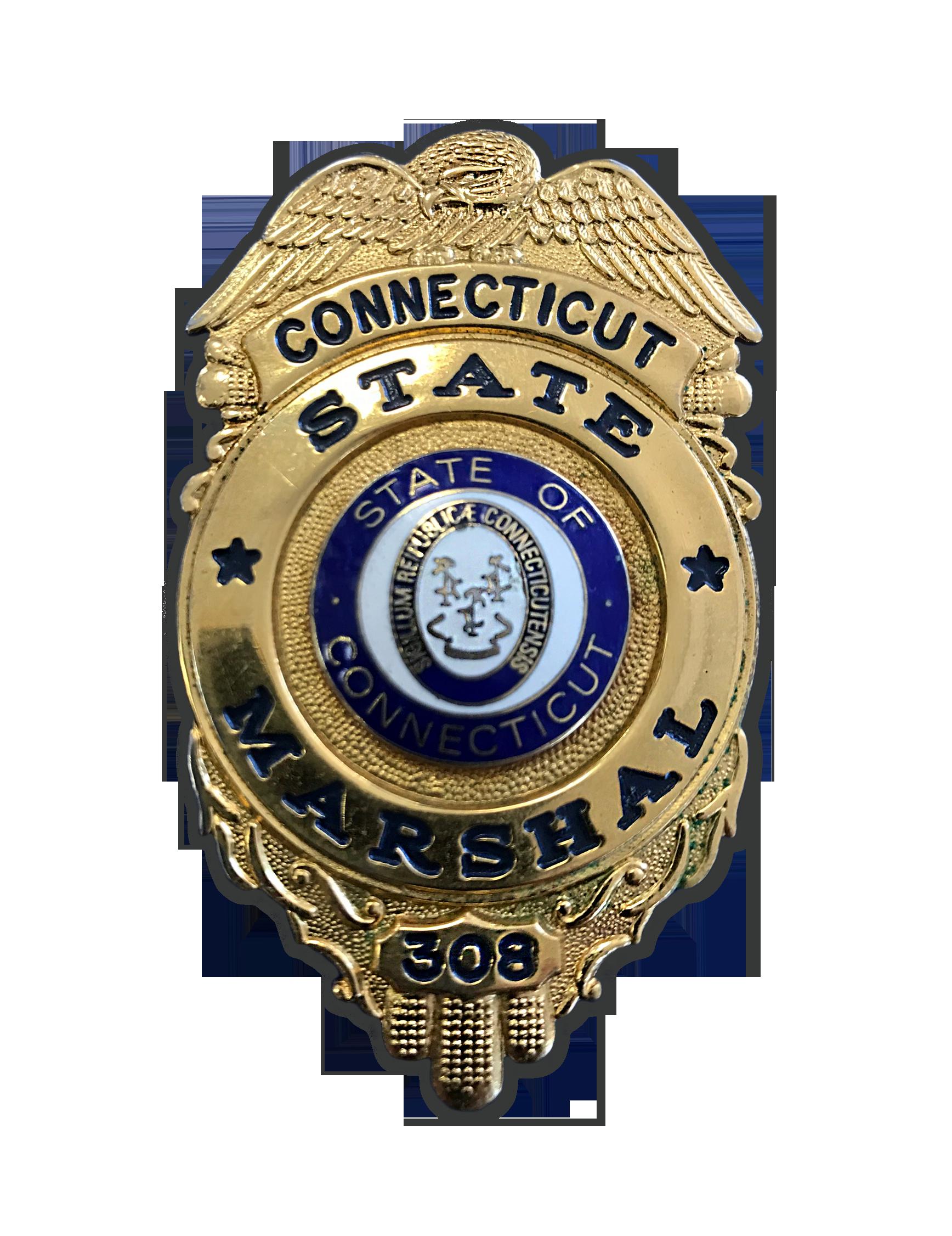 Frank P. Sandillo CT Marshal Badge #308.png