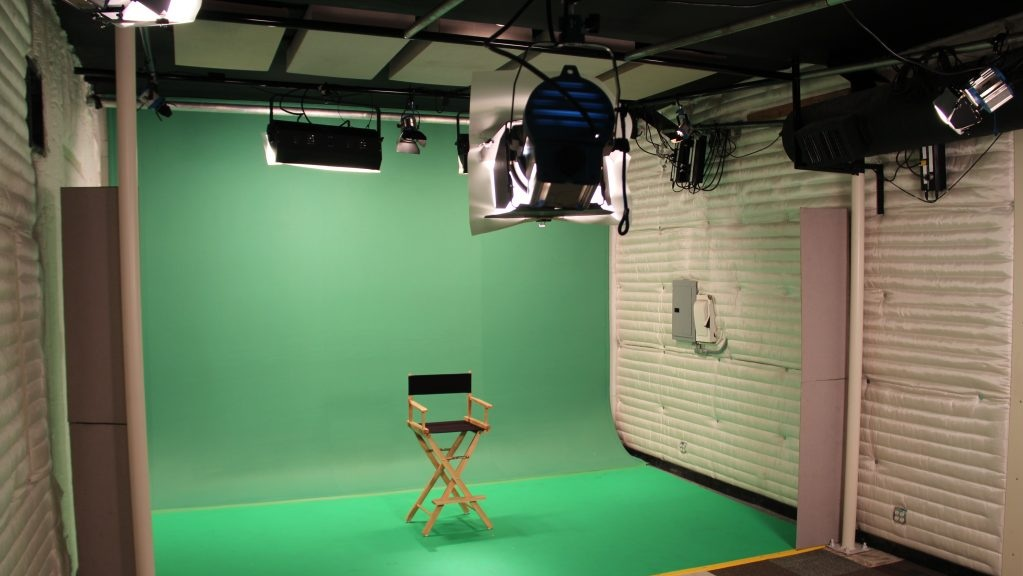 Green Screen Stage - Your classic green screen stage, pre-lit with industry standard lights. The stage is available within normal business hours, or can be rented weekly and for any 24/7 period if needed. General Stage Measurements are 11 ft high by 16 ft wide by 9 ft long.(Only available in Los Angeles)
