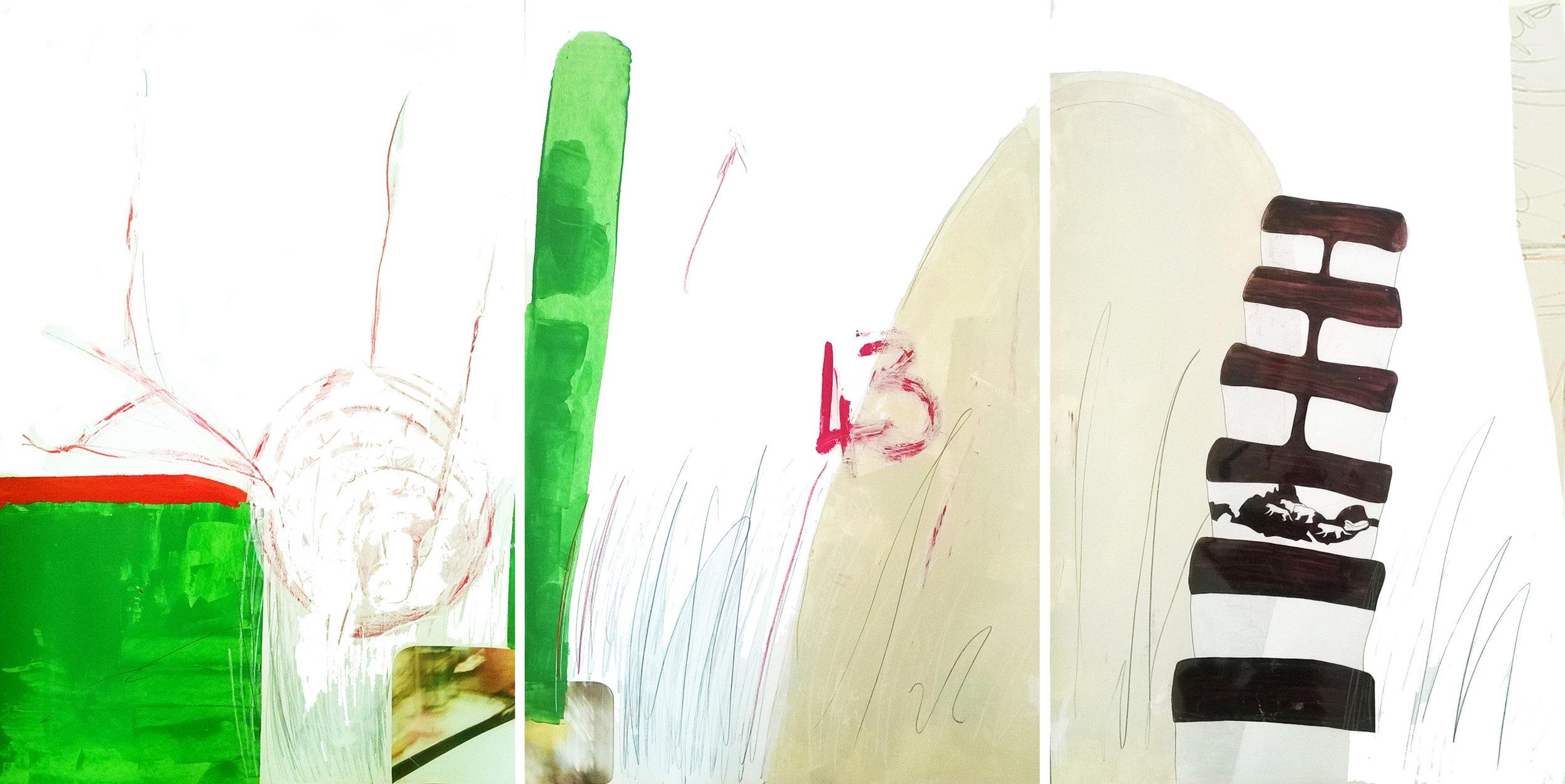 """Grass, 2015   72""""x38"""""""