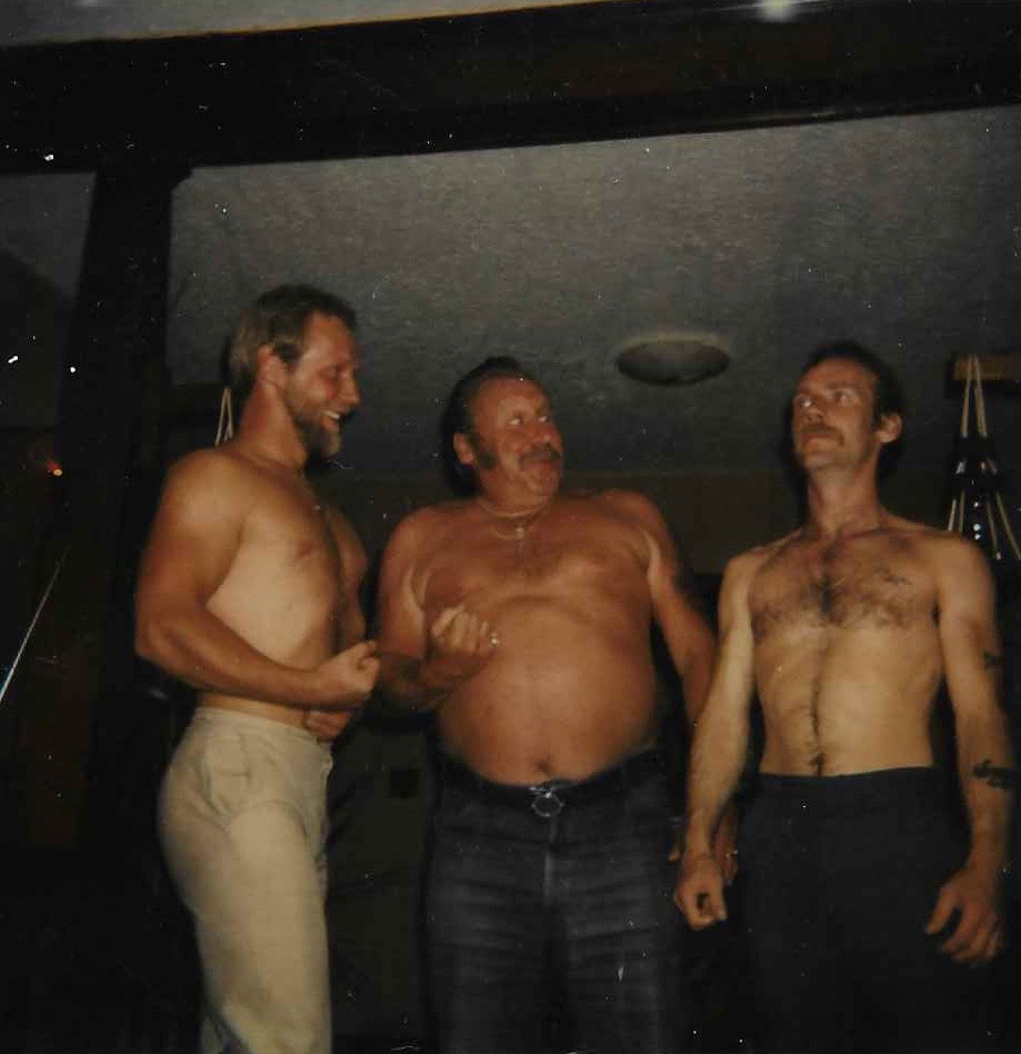 Bobby Walason, left, with his father, Charlie, center, and brother, Charlie Jr., circa 1976. Bobby's relationship with his father was strained.  Courtesy of Bobby Walason.