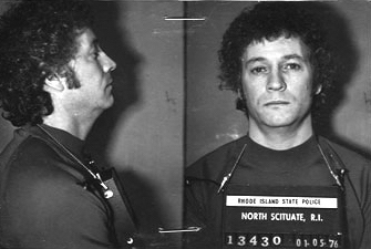 """Charles """"Chucky""""  Flynn, Dussault's best friend, was arrested in connection with the Bonded Vault heist in January 1976. Tipped off by Dussault and another robber,Joe Danese,police arrested Chucky and five other men.   Courtesy of the Providence Journal."""