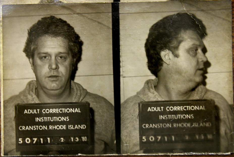 A 1980 mugshot of  Harold Tillinghast , taken after his murder conviction,at the Adult Correctional Institutions. Courtesy of the Providence Journal .