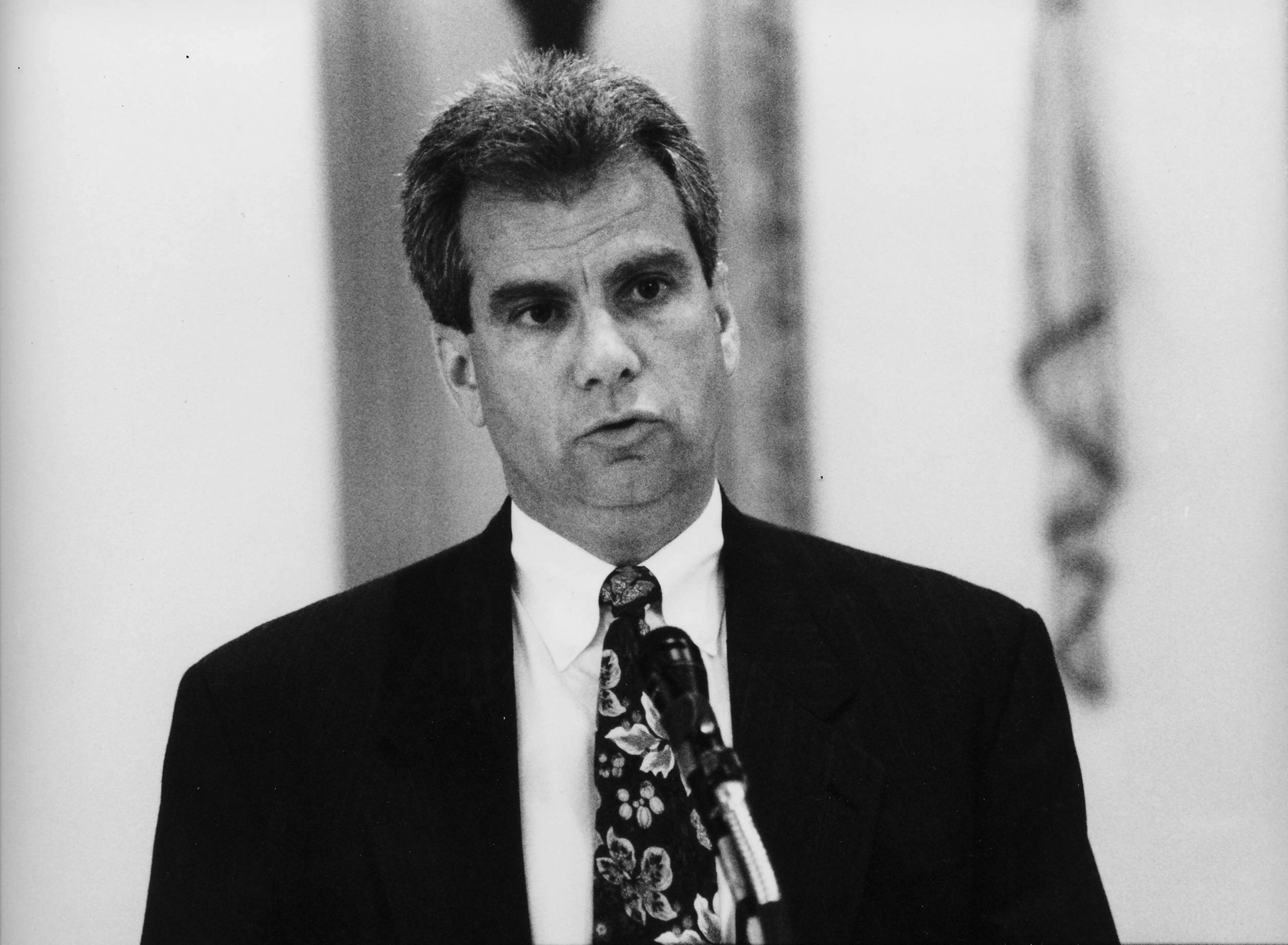 Anthony Pesare, pictured above in 1994, was a state police investigator who offered Billy Ferle protection in exchange for information about various mob murder cases, including the McElroy murder. Courtesy of the Providence Journal .