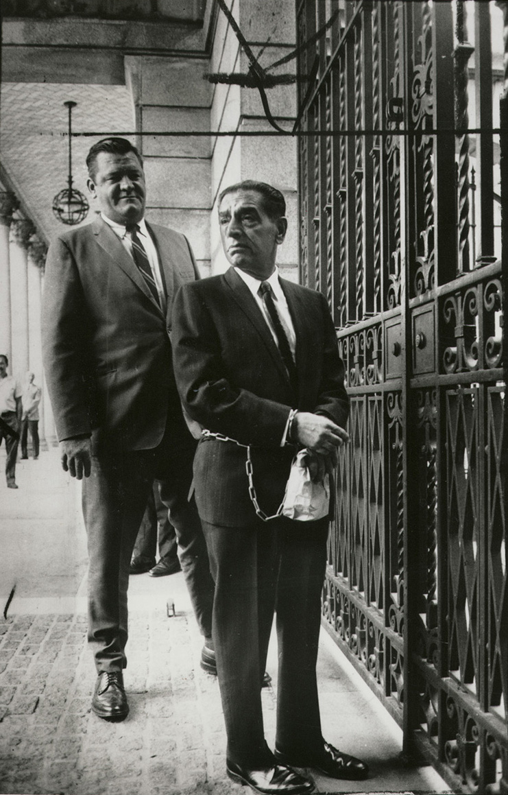 After finishing a three-year prison sentence in 1944, Patriarca went more than 20 years without an arrest. That stretch ended in the late 1960s.  Courtesy of The Providence Journal.