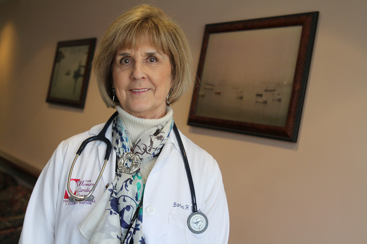 Dr. Roberts outside her office in Providence in 2012.  Courtesy of The Providence Journal/Bob Thayer.