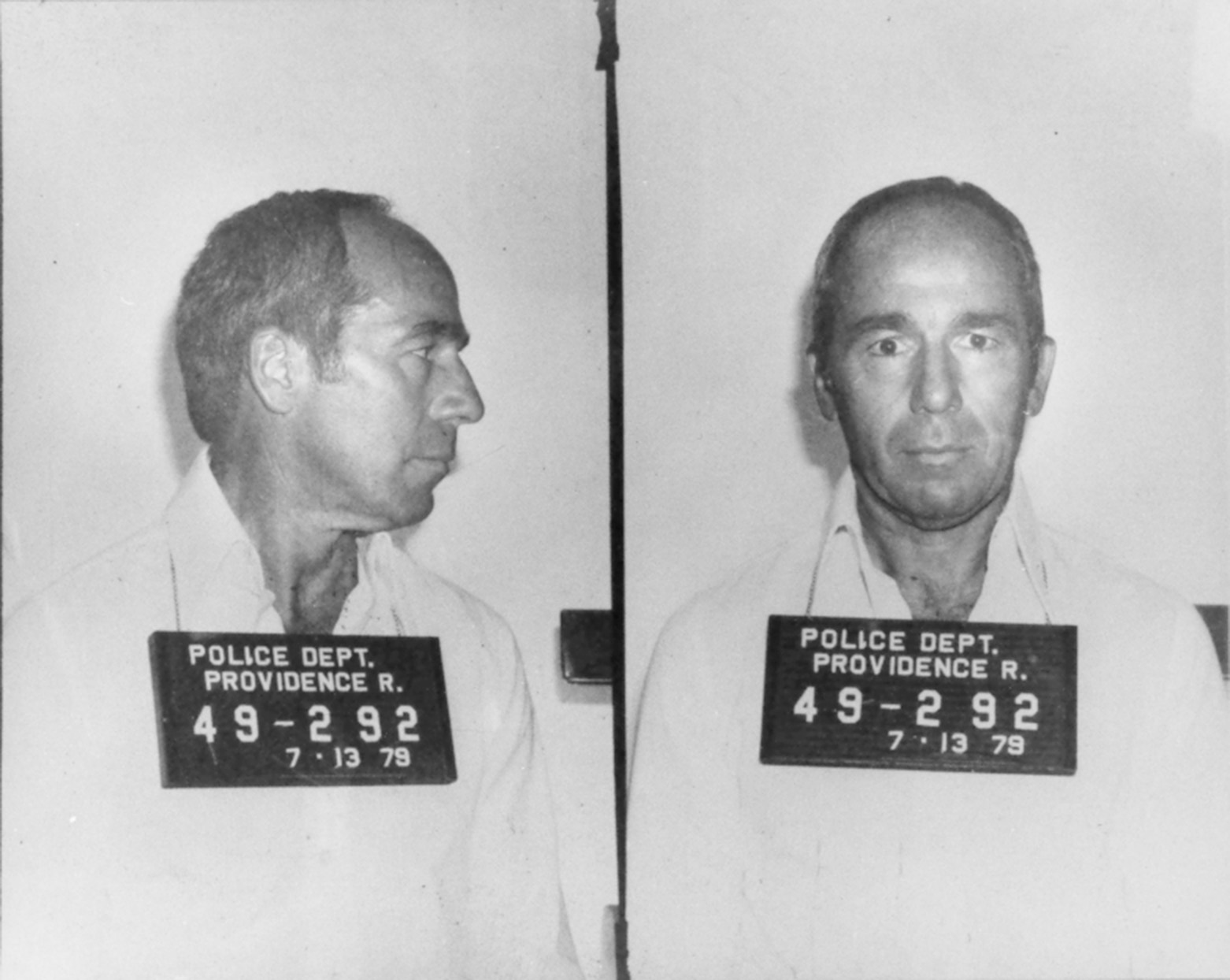 Louis Manocchio in a July 13, 1979 mug shot.  Providence Police Department photo, courtesy of The Providence Journal.