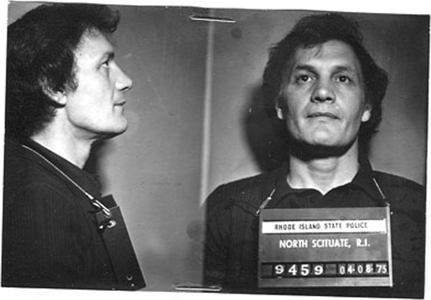 """Richard """"Moon"""" DiOrio in a mug shot in 1975. DiOrio was a member of the Patriarca crime family, and was called in as a protected witness during the Bevilacqua inquiry. Courtesy of The Providence Journal."""