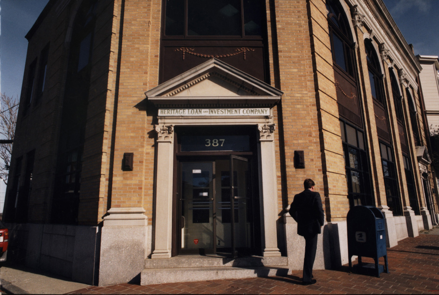 The Heritage Loan and Investment Company on Atwells Avenue in Federal Hill. Joe Mollicone Jr.'s father had been Raymond Patriarca's banker, and there were persistent rumors that Heritage was mob-affiliated. Courtesy of The Providence Journal.