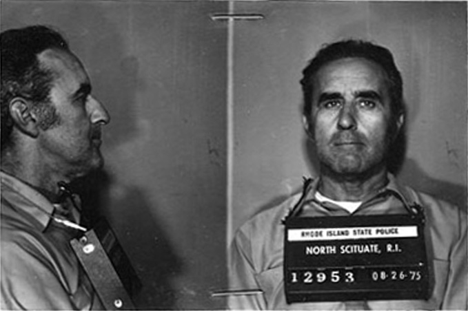 George Chapdelaine in a 1975 mugshot. In 1991, Chapdelaine posed as an elderly man in a wheelchair for Fiore's plot.  Courtesy of The Providence Journal.