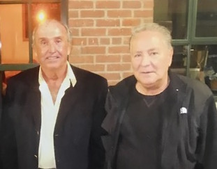 Brian Andrews and Tony Fiore meet for dinner in September 2014. Today, the two old adversaries are on friendly terms. Courtesy of Brian Andrews.