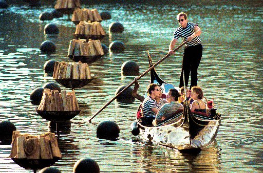 Launched in 1994, WaterFire drew thousands to the revitalized Providence River, once covered over by railroad tracks and roadways. Courtesy of The Providence Journal.