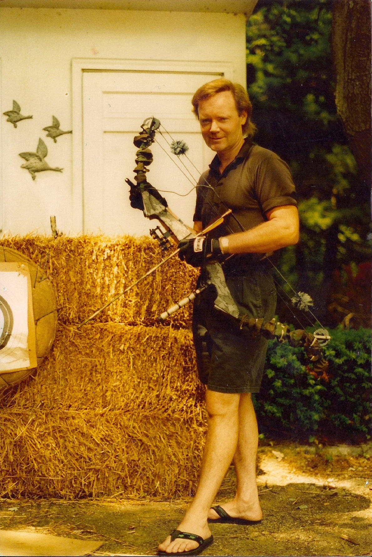 Charles used counter-surveillance techniques to evade authorities. At times, he wore night-vision goggles to watch out for uninvited visitors at his estate.  Courtesy of Charles Kennedy.