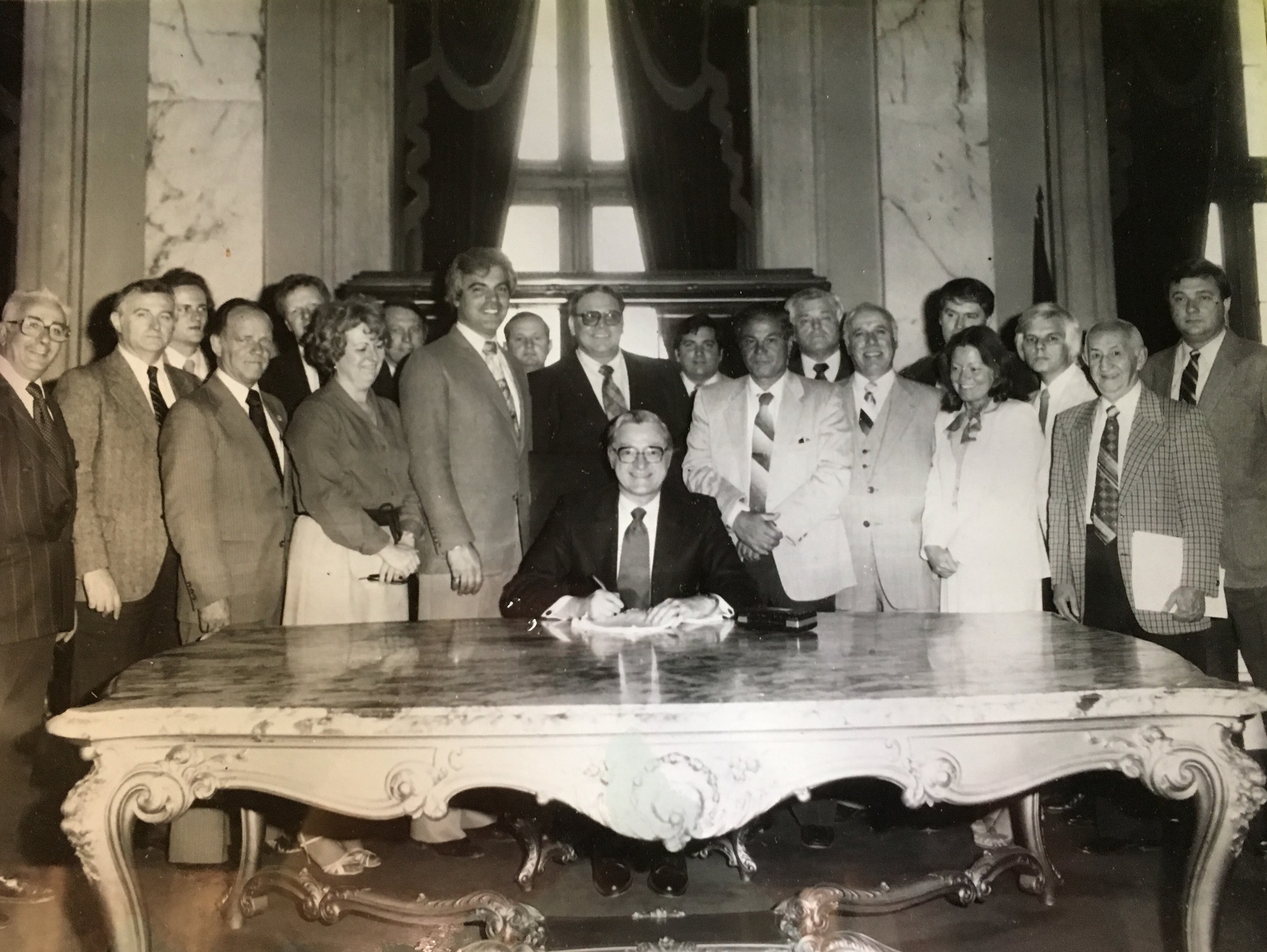 Gloria Kennedy Fleck, fourth from right, poses with other state senators.  Courtesy of Gloria Kennedy Fleck.