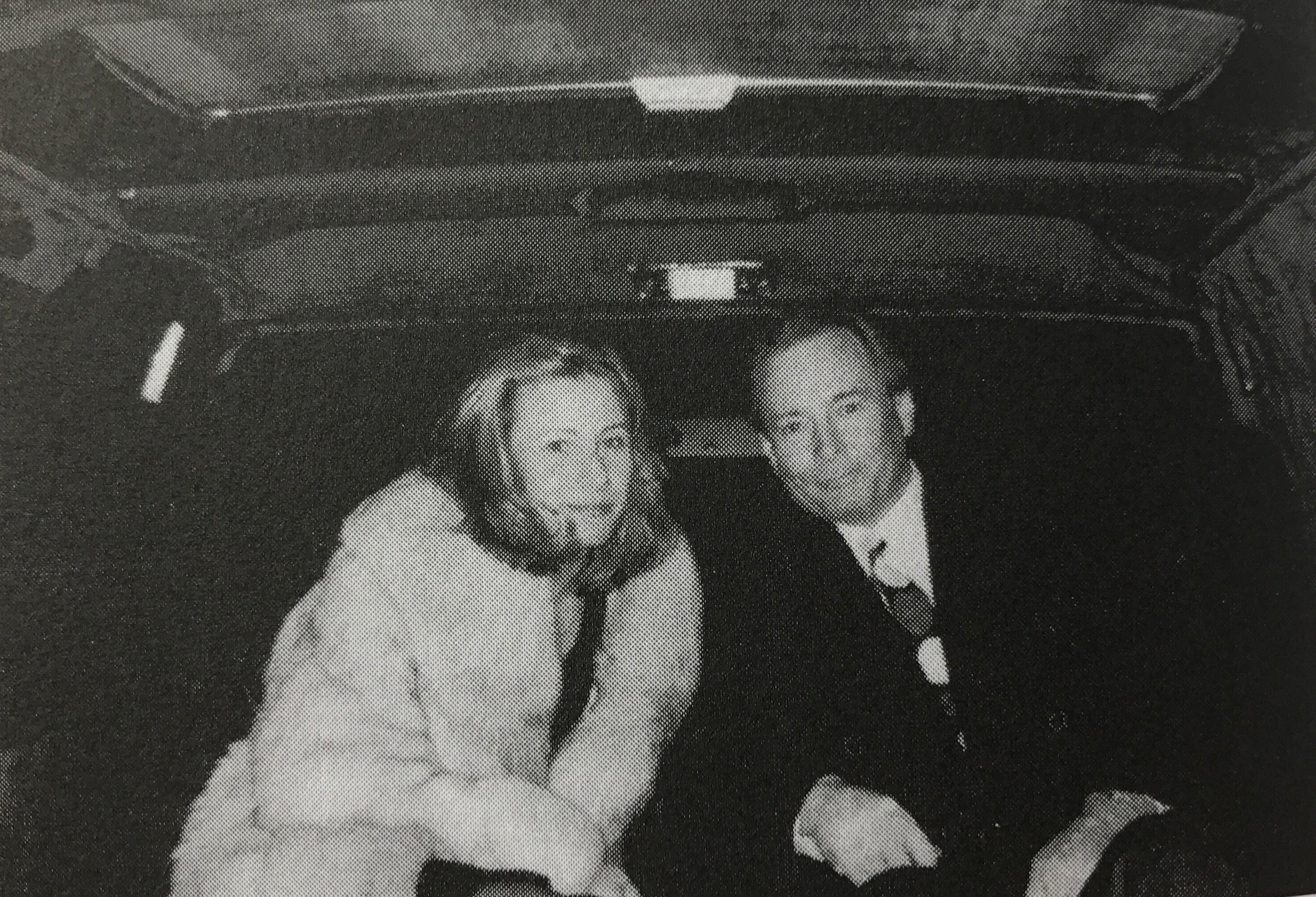 """Nicole and Gerard Ouimette in a limousine on their way to a father-daughter dance at Nicole's high school. In his memoir, Gerard wrote that when they arrived, they got out as if they """"were stepping onto the red carpet at the Academy Awards, and I escorted her in as if she was a movie star."""" Courtesy of Gerard Ouimette."""